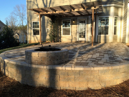 backyard patio hardscape