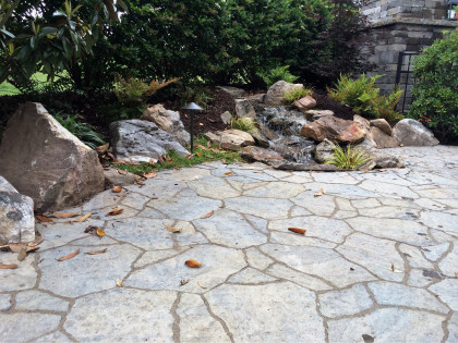 backyard hardscape